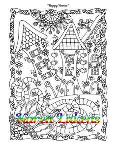 Check out this item in my Etsy shop https://www.etsy.com/listing/487207547/happy-homes-1-adult-coloring-book-page