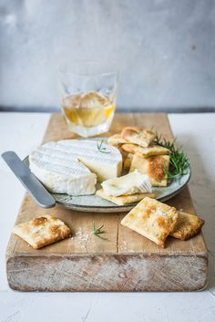 Rosemary, Orange and Olive Oil Crackers