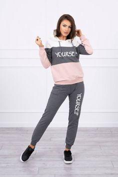 Dámska tepláková súprava YOURSELF grey 65456 Sporty, Grey, Style, Fashion, Gray, Swag, Moda, Fashion Styles, Fashion Illustrations