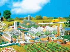 Faller Greenhouse Set N Scale Model Railroad Building #232225