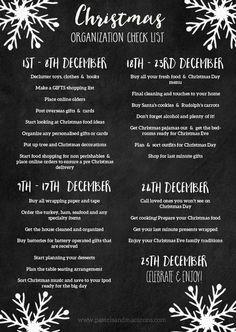 Christmas Organization Printables - Christmas Organization Printable Checklist with Tips. Christmas Style, Christmas Tress, Christmas Time Is Here, Holiday Fun, Christmas Holidays, Christmas Gifts, Christmas 2019, Holiday Stress, Christmas Movies