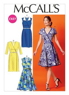 M6959 | McCall's Patterns For sew-along blogging narratives check out http://www.sewinlove.com.au/2016/01/22/mccalls-patterns-m6959-wrap-dress-join-sew-along/