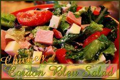 Chicken Cordon Bleu Salad http://www.momspantrykitchen.com/chicken-cordon-bleu-salad.html