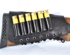 New Black Leather Butt Stock holder Cover for SHOTGUN by ARMORS
