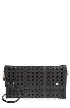 Street Level Perforated Convertible Clutch available at #Nordstrom