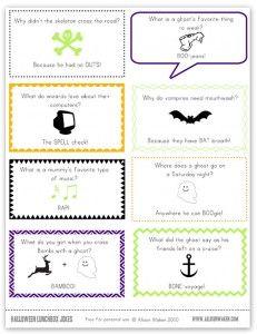 halloweenlunchnotesv2 231x300 FREE Printables: Halloween Joke Lunch Notes