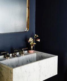 Bathroom sink vanity #goals : @studiomuir  #designcrushoftheday