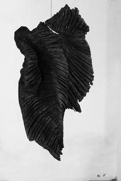 2 Skulptur Holz Fluegel