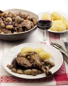 #Pollo al #vino - coq au vin