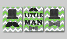 Little Man Nursery Childrens Art Baby Boy Nursery by artbynataera