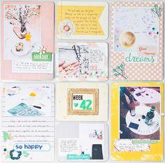 #papercraft #scrapbook #layout.  PL week 42