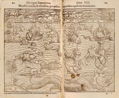 Old World Sea Maps | Maps with Sea Monsters