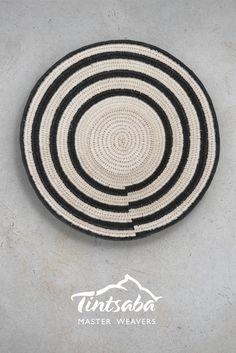 handmade sisal basket from Tintsaba in Swaziland, Africa Africa Handmade Black And White Colour, Contemporary Jewellery, Sisal, African, Baskets, Diy, Handmade, Models, Cream