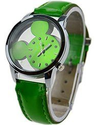 Personalized Fashion Cute Mickey Mouse Cortical Hollow Diamond Dial Quartz Wrist Watch ( Green ) by Brothers-USA $11.00 FREE Shipping on eligible orders Show only Brothers-USA items 5 out of 5 stars 2