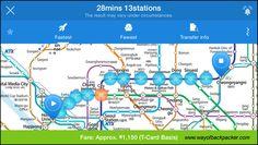korea subway guide to Nami island