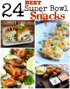 24 of Our Best Party Food Ideas and Super Bowl Snacks. Get ready for the big game with Philly cheesesteaks, sliders, pizza & 20 Blogger Friends' recipes. #superbowl #biggame #snacks #recipes