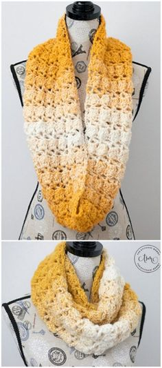 Crochet scarves 757801074782610240 - free crochet pattern: Blooming Autumn Infinity Scarf Source by patterncentercom Crochet Scarves, Crochet Shawl, Easy Crochet, Free Crochet, Crochet Wraps, Crochet Ideas, Crochet Granny, Crochet Infinity Scarves, Free Knitting