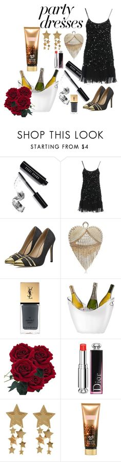 """""""party"""" by heidibartholdy on Polyvore featuring Bobbi Brown Cosmetics, RED Valentino, Yves Saint Laurent, Prodyne, Christian Dior and Victoria's Secret"""