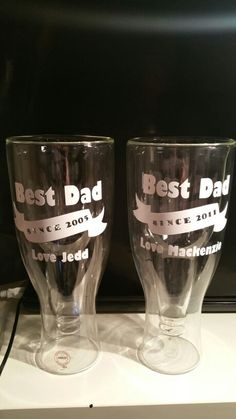 Fathers Day Glassss Vinyl Designs, Best Dad, Fathers Day, Beer, Tableware, Glass, Prints, Root Beer, Dinnerware