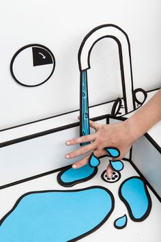 ベルギーのデザインスタジオによる漫画系インテリア。