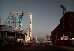 But back in1948 Freemont St didn't have too many neon signs, but they're coming!