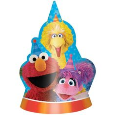 Check out Sesame Street Party Hats | Sesame Street Birthday tableware & décor for your party from Birthday in a Box from Birthday In A Box