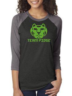 Team Pidge, Green Lion, Robot Lions, Voltron Raglan 3/4 Sleeve Unisex Baseball Tee,Nerd Girl Tees