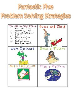 Problem Solving Strategies - I'd use all but guess and check.