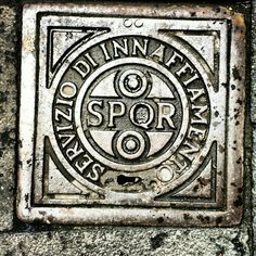 SPQR! Drain cover in Rome