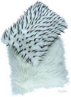 Poduszka dekoracyjna JEŻYK biały/Faux fur pillow JEŻYK biały