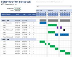 This Daily Construction Schedule let you define non-work days and summarizes daily work load. Download from Vertex42.com Schedule Templates, Planner Template, Medical Terminology, Technology Tools, Psychology Books, Microsoft Excel, Biotechnology, Self Publishing, Life Science