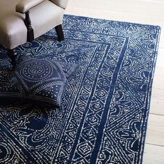 An indigo rug: http://www.stylemepretty.com/living/2015/08/10/trending-all-things-indigo/