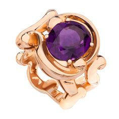 Fabergé Rococo Amethyst Rose Gold Ring #Fabergé #Rococo #amethyst #ring