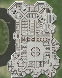 Hospital; shadowrun, floorplan