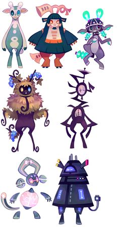 http://floraverse.com/wiki/species/scrapgoat/ Waaaaa <3 I'm in love ... drawing persons out of this will be lots of fun ❤️