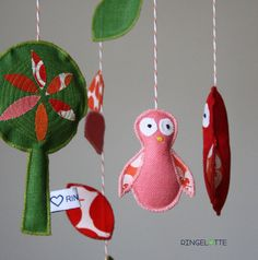 Eulenmobile - Baby Kind Mobile- Kinderzimmer Dekoration - owl