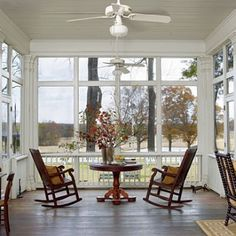 View All Photos < Real-Life Redo: Screened Porch Addition - Southern Living Outdoor Rooms, Outdoor Living, Indoor Outdoor, Outdoor Kitchens, Style At Home, Rocking Chair Porch, Outdoor Kitchen Countertops, Sink Countertop, Porch Addition