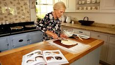 Mary Berry demonstrates how to make an Irish creme chocolate roulade from her new recipe book; Mary Berry Cooks the Perfect