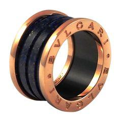1stdibscom bulgari bzero1 pink gold u0026 blue marble 4 band ring