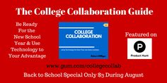 The College Collaboration Guide is on special for $3 in honor of #backtoschool http://www.gum.co/collegecollab  Get it now!