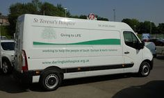 The Green I Signs Blog: Van signwriting at Sherwoods Vauxhall for St Teres...