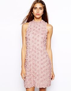 Image 1 of River Island Flower Shift Dress Asos Online Shopping, Online Shopping Clothes, Cool Style, My Style, Latest Fashion Clothes, Bridesmaid Dresses, Bridesmaids, River Island, High Neck Dress