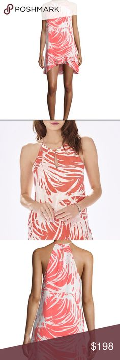 ✨HP!✨ NWT Parker Coral Printed Dress ✨Posh Party Host Pick!✨  This fluttery silk dress is perfect for vacations and parties all summer long. In a coral and white print, it features a slim keyhole neckline, cutaway shoulder, and a layered ruffle hem.  DETAILS:  100% silk. 35 in. from shoulder. Runs true to size in a forgiving fit. No trades; price firm - this item is new with tags. Parker Dresses Mini