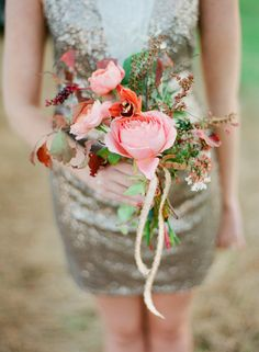 Fall Wedding Bouquets of Fruits, Foliage and Florals   Embellished Events Blog   #fall #bridal #bouquet