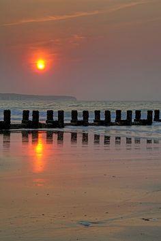 Sunrise over Bridlington Bay