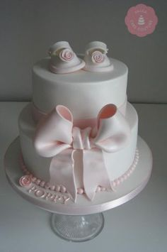 Baby Girls Baptism Cake - CakesDecor
