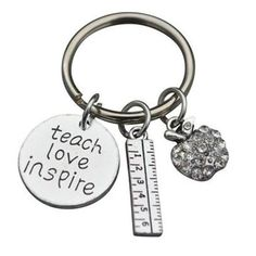 Teacher Gift Show Your Teacher Appreciation It Takes A Big Heart to Teach Little Minds Jewelry Infinity Collection Science Teacher Keychain
