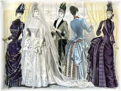 The Victorian Archive | Wedding Party, Color Fashion Plate