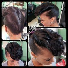 smooth french roll/pompadour