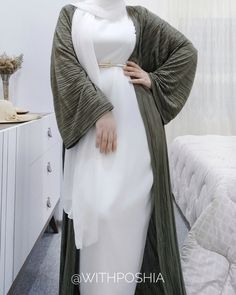 Hijab Style Dress, Modest Fashion Hijab, Casual Hijab Outfit, Abaya Fashion, Fashion Outfits, Islamic Fashion, Muslim Fashion, Kaftan Designs, Long Summer Dresses